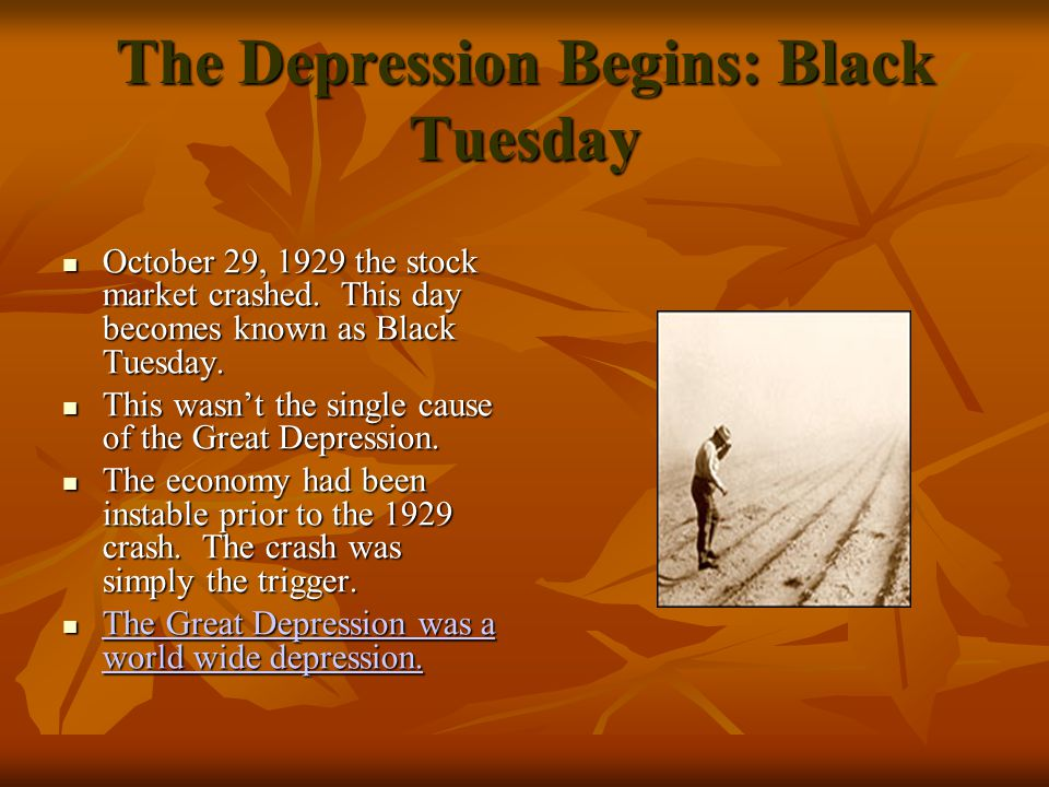 Black Tuesday: Why did it happen.So why did the Market crash.