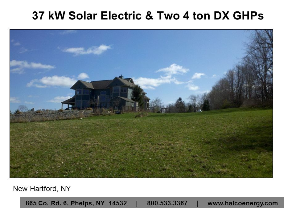 37 kW Solar Electric & Two 4 ton DX GHPs New Hartford, NY