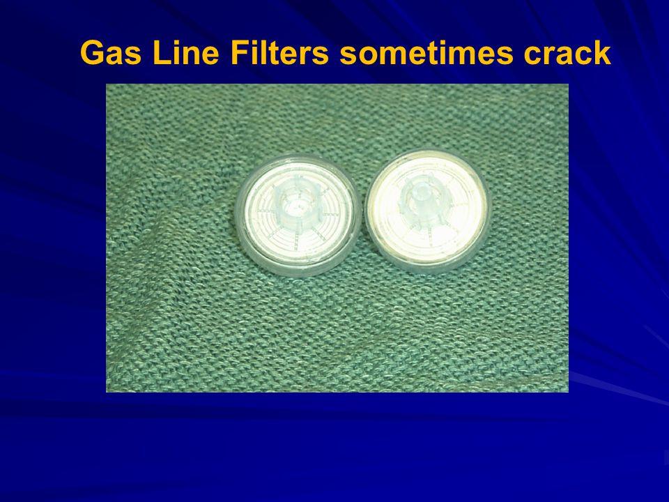 Gas Line Filters sometimes crack