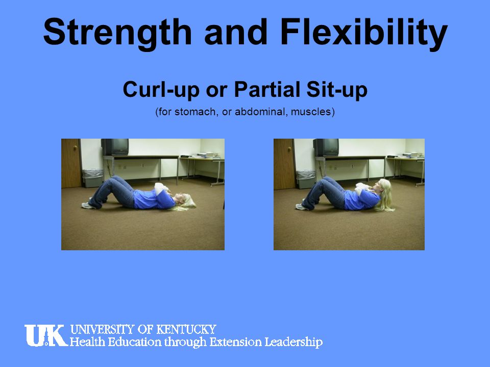 Strength and Flexibility Pelvic Raise or Bridge (for lower back)
