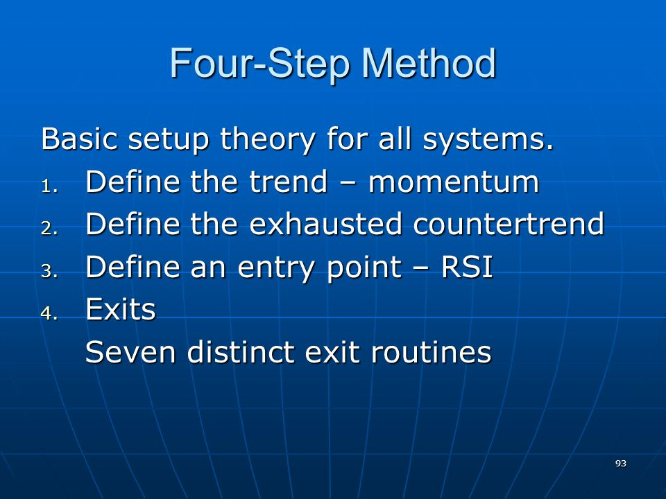 93 Four-Step Method Basic setup theory for all systems.