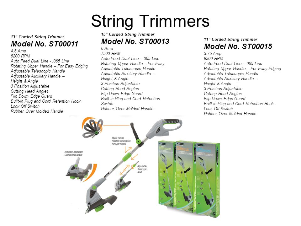 String Trimmers 15 Corded String Trimmer Model No.