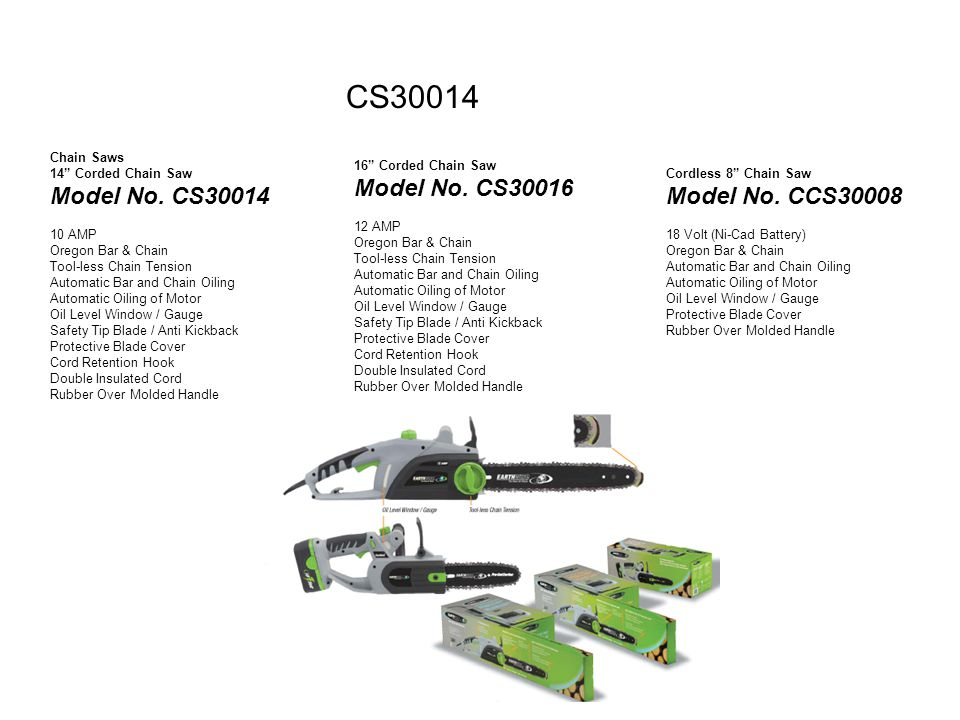 CS30014 Chain Saws 14 Corded Chain Saw Model No.