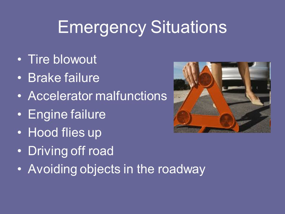 Side-Impact Collision Threats Brake or accelerate quickly.