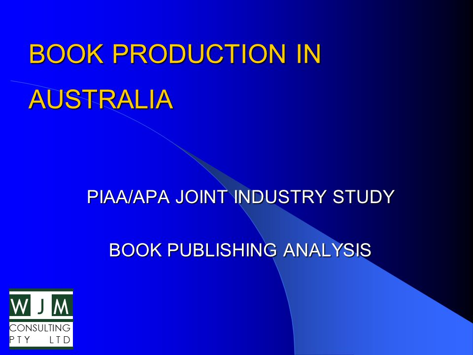 WMJ CONSULTING P T Y L T D Education Benchmarks Sales Aust.