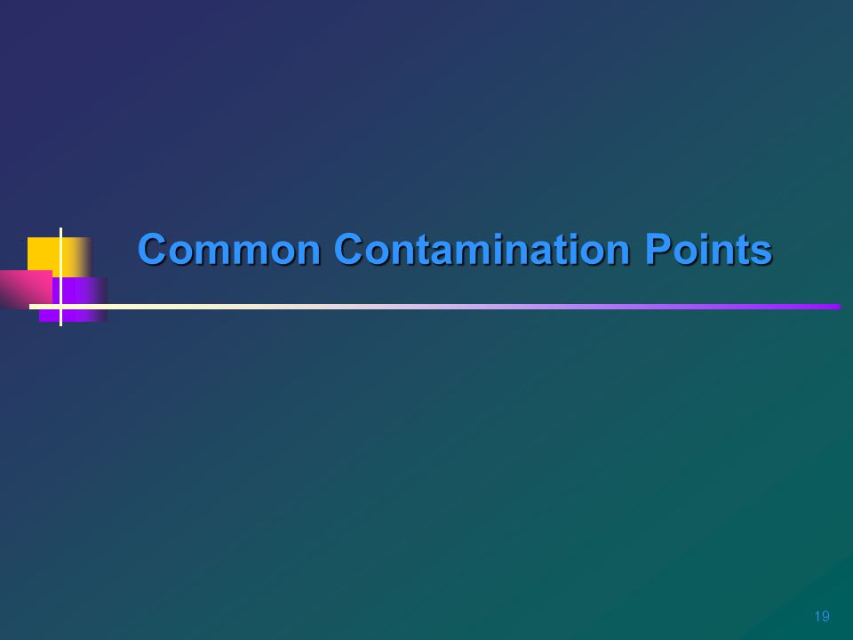 19 Common Contamination Points