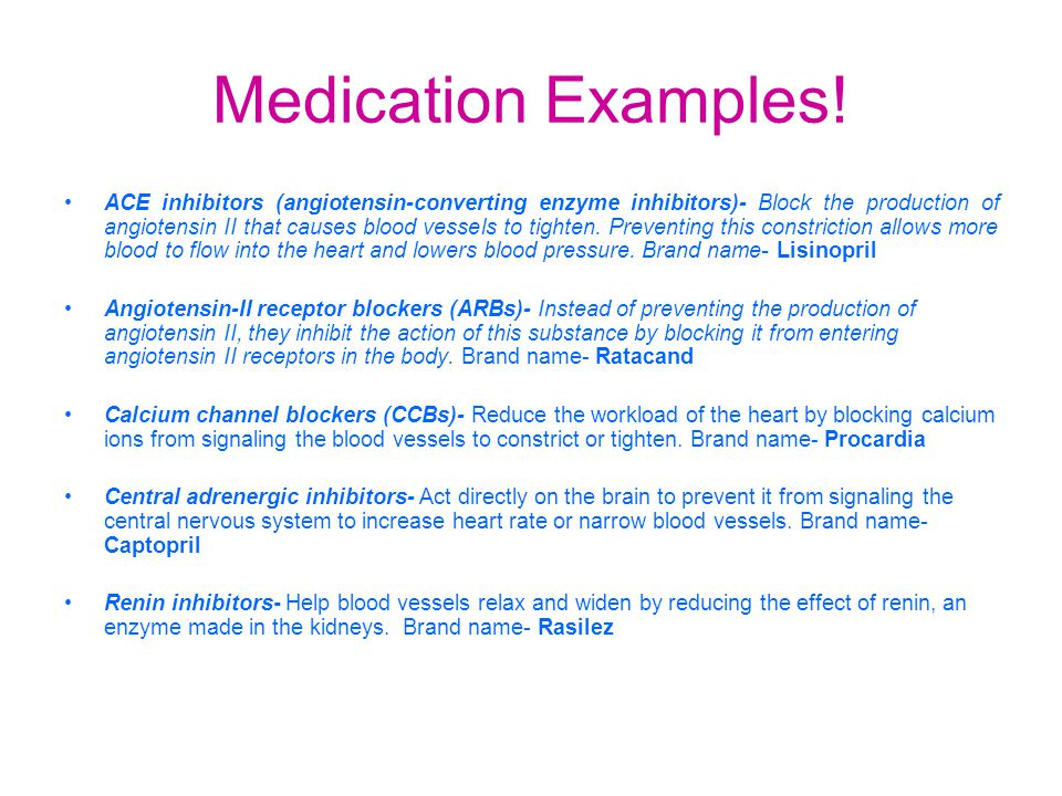 Medication Examples.