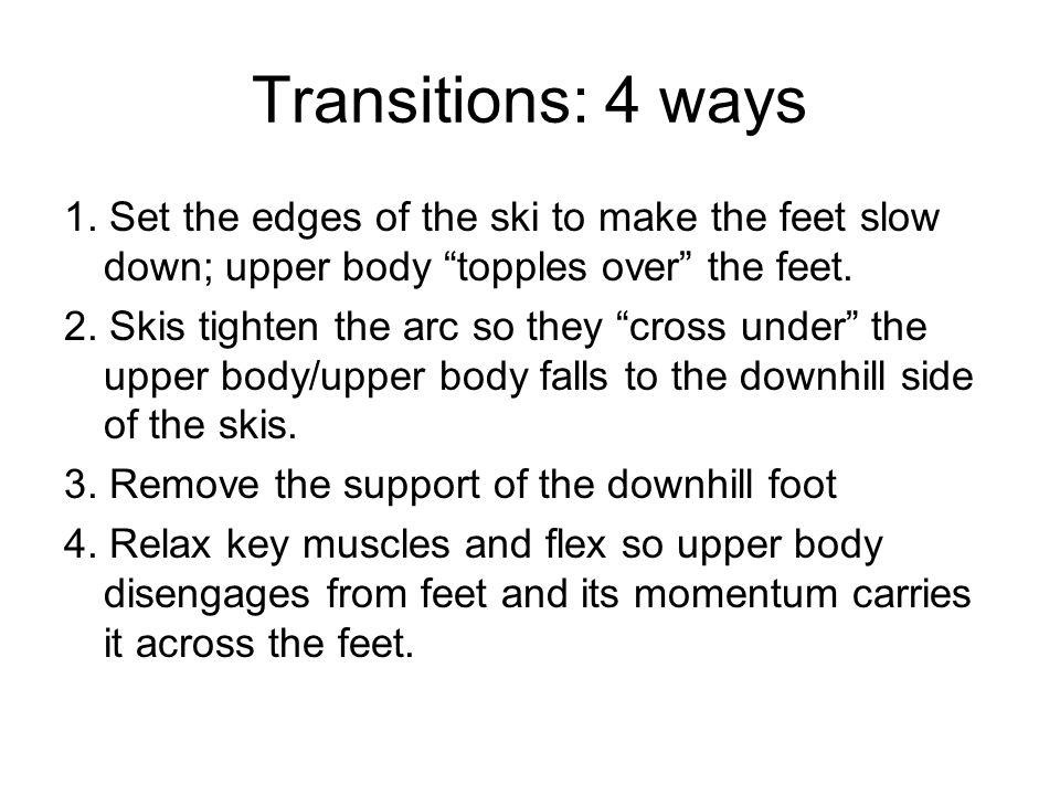 Transitions: 4 ways 1.