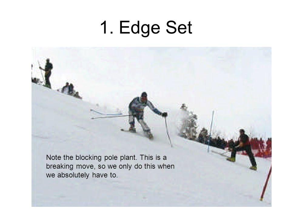 1.Edge Set Note the blocking pole plant.