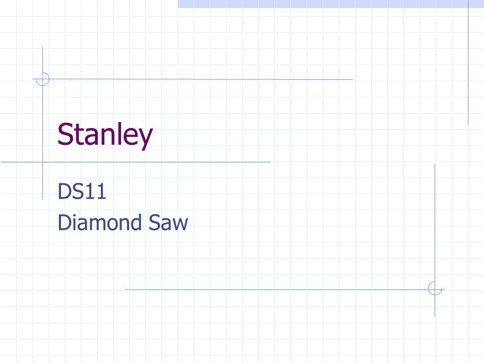 Stanley DS11 Diamond Saw