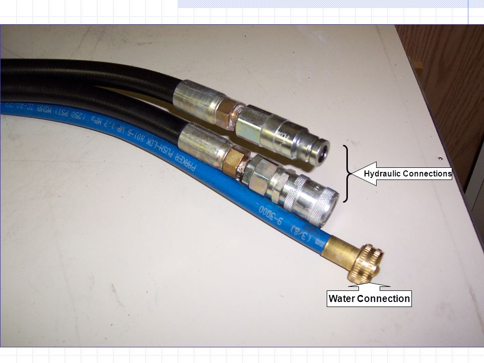 Water Connection Hydraulic Connections