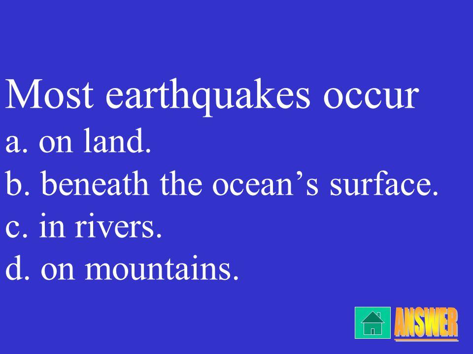 c. tsunamis/islands