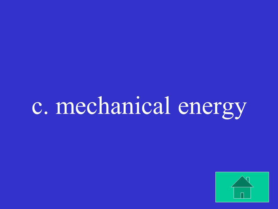 When an electric fan is running, most of the incoming electrical energy changes into which kind of energy.