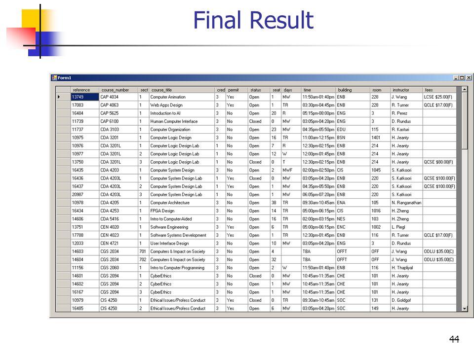 44 Final Result