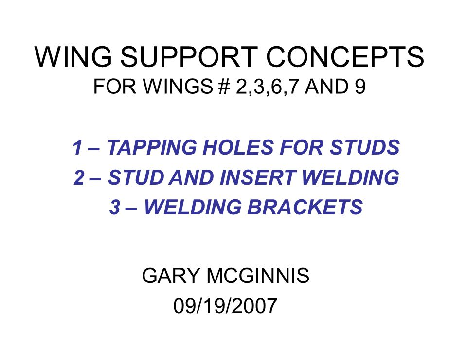 C-B WING #6BRACKET WELDED TO WING AND COIL OPTION TO USE WELD STUD AND NUT