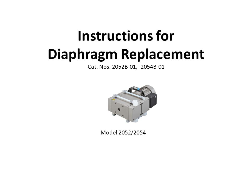 Instructions for Diaphragm Replacement Cat. Nos. 2052B-01, 2054B-01 Model 2052/2054