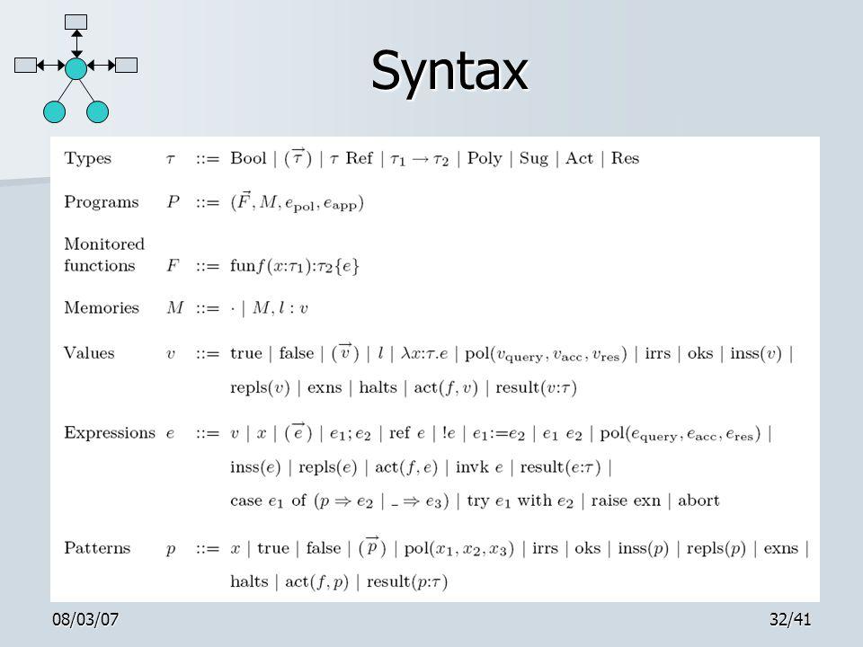 08/03/0732/41 Syntax