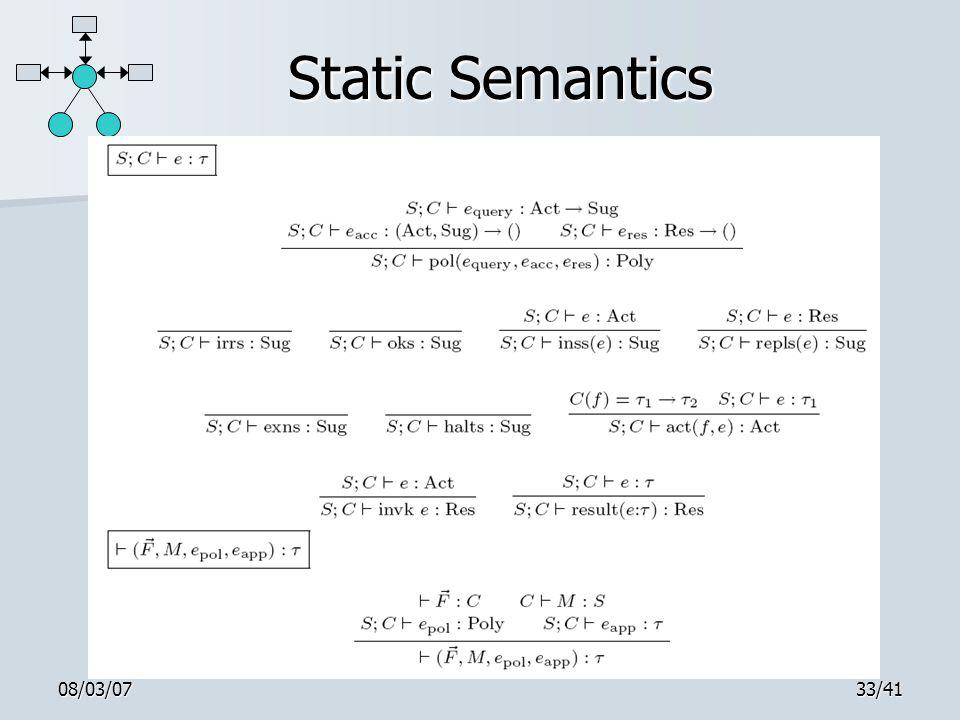 08/03/0733/41 Static Semantics
