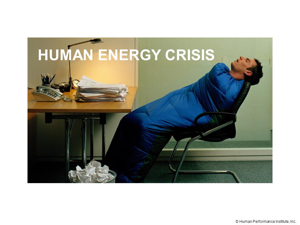 HUMAN ENERGY CRISIS © Human Performance Institute, Inc.