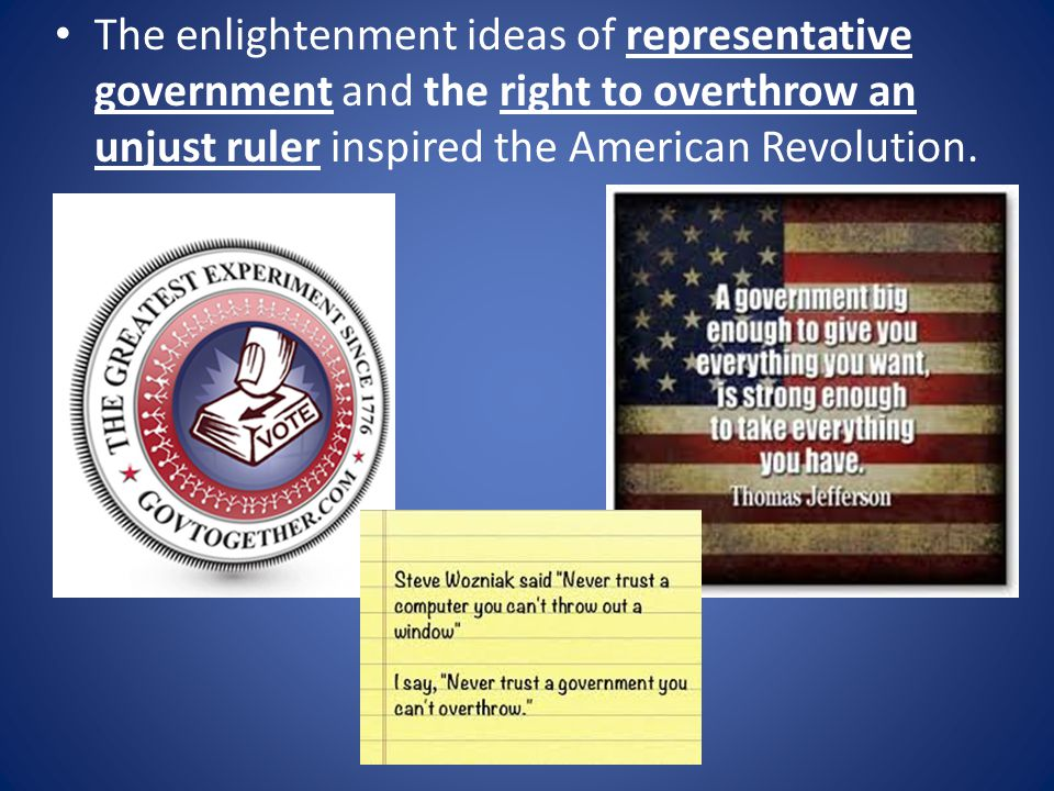 enlightenment ideas inspired the american and