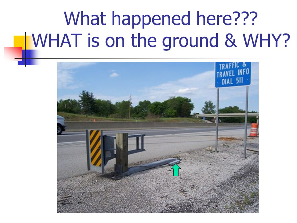 What happened here??? WHAT is on the ground & WHY?