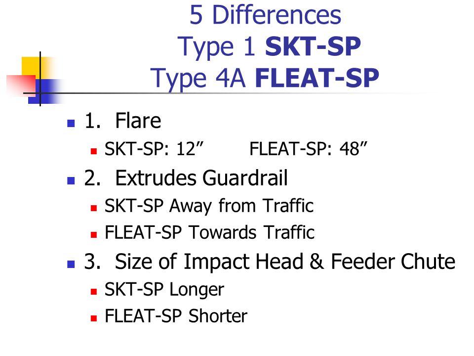 5 Differences Type 1 SKT-SP Type 4A FLEAT-SP 1. Flare SKT-SP: 12 FLEAT-SP: 48 2.