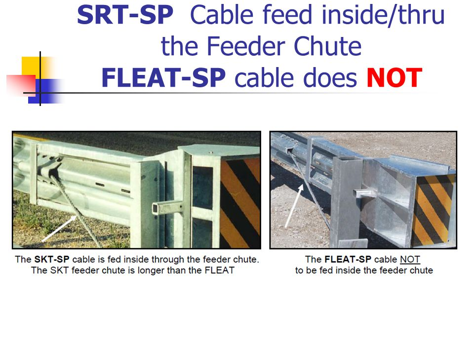 SRT-SP Cable feed inside/thru the Feeder Chute FLEAT-SP cable does NOT