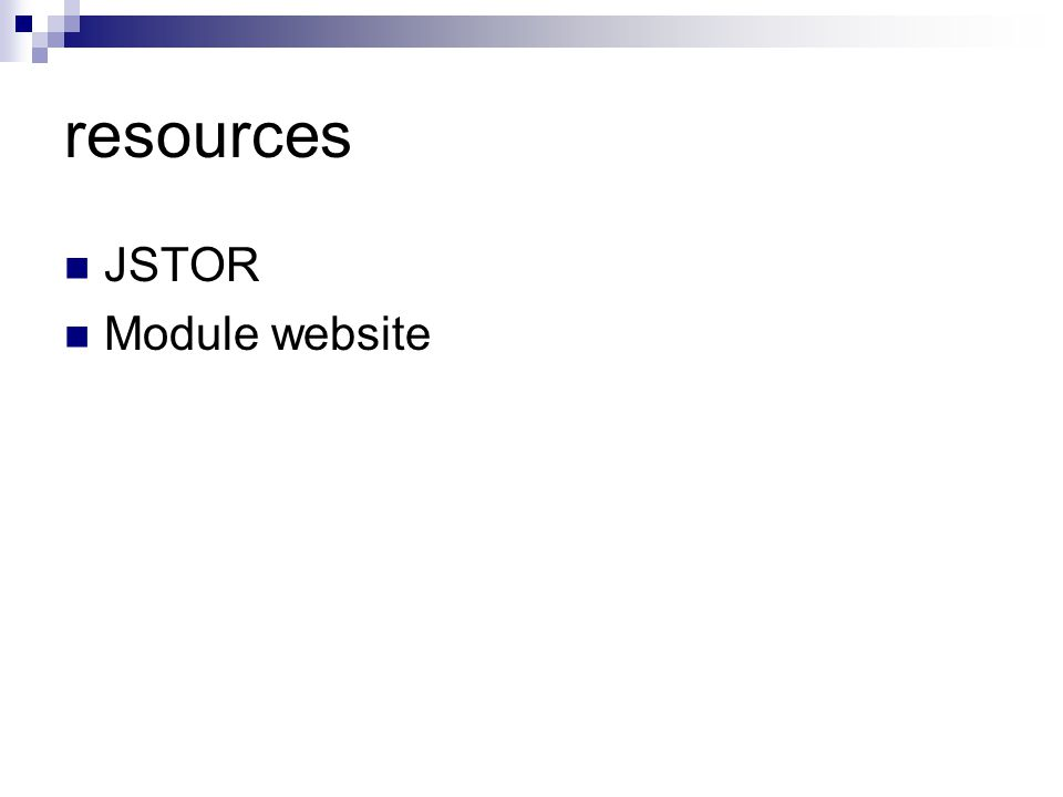 resources JSTOR Module website