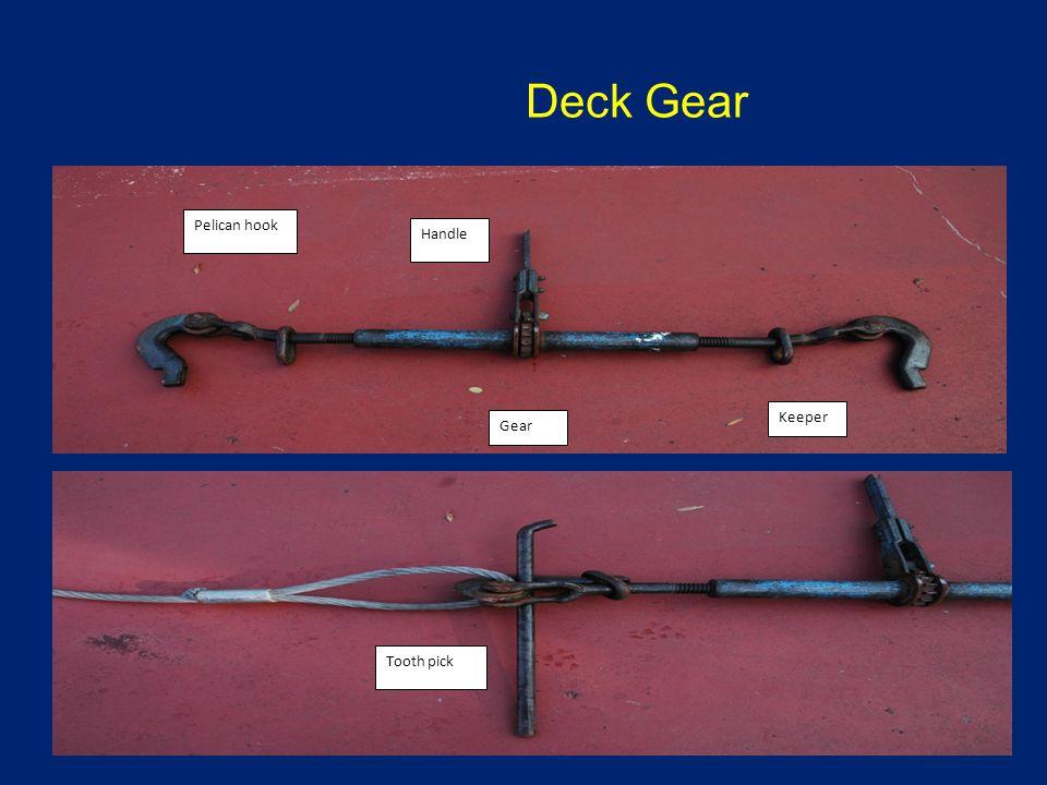 Deck Gear Pelican hook Handle Gear Keeper Tooth pick