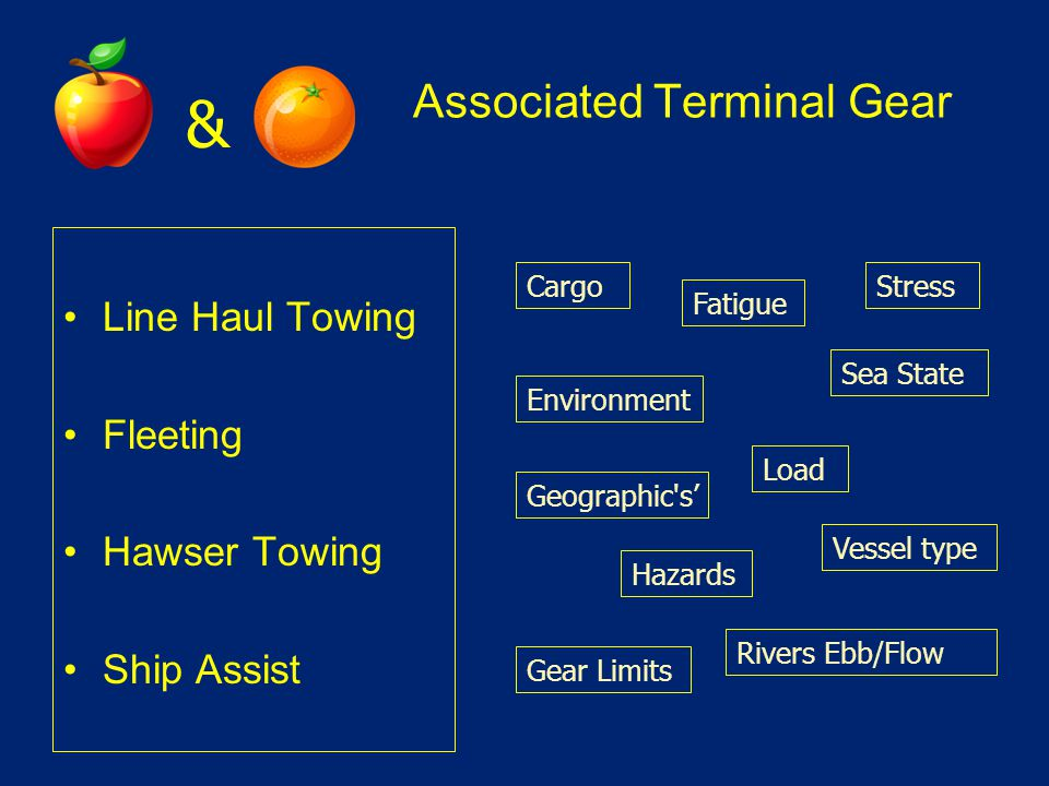 Associated Terminal Gear Line Haul Towing Fleeting Hawser Towing Ship Assist Load Environment Stress Vessel type Fatigue Cargo Geographic's' Sea State
