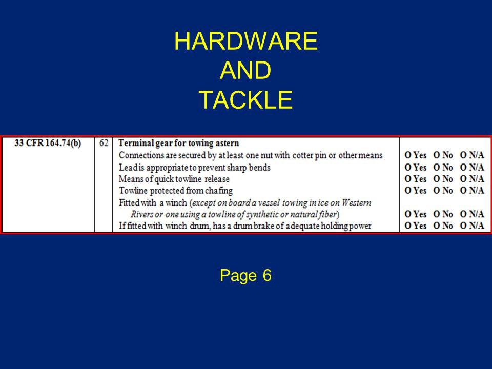 HARDWARE AND TACKLE Page 6