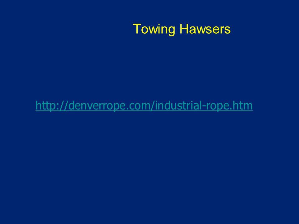 Towing Hawsers http://denverrope.com/industrial-rope.htm