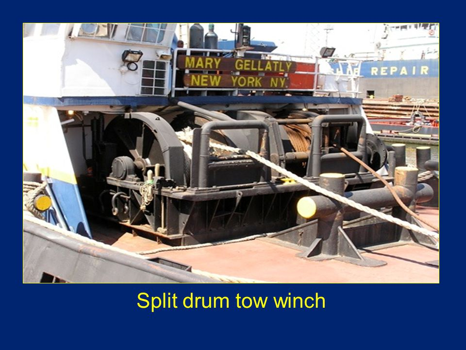 Split drum tow winch