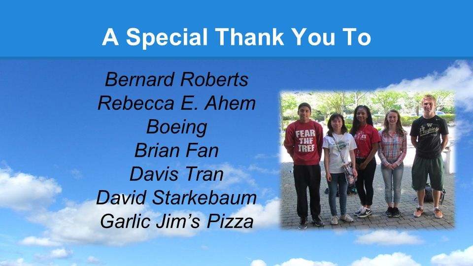 A Special Thank You To Bernard Roberts Rebecca E.