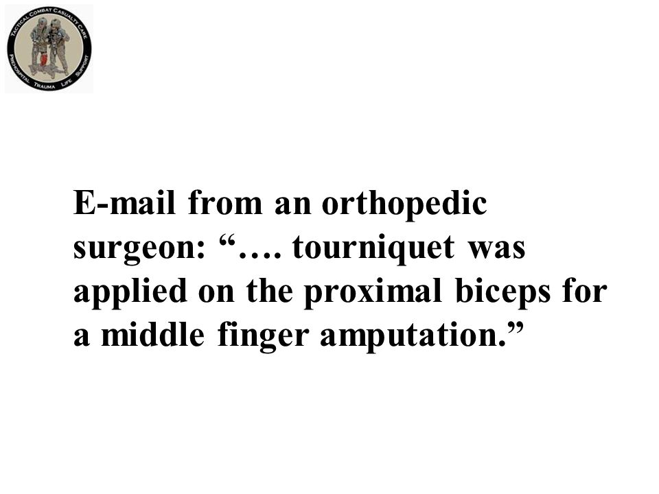 E-mail from an orthopedic surgeon: ….