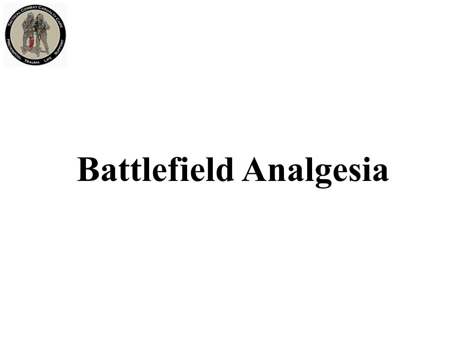 Battlefield Analgesia