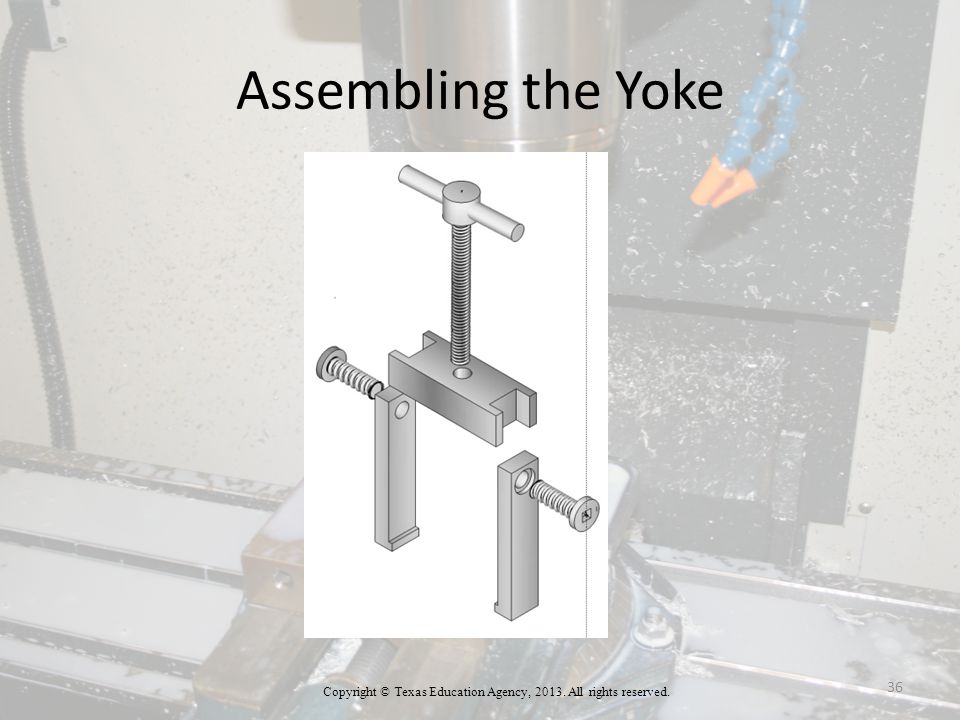 Assembling the Yoke Copyright © Texas Education Agency, All rights reserved. 36