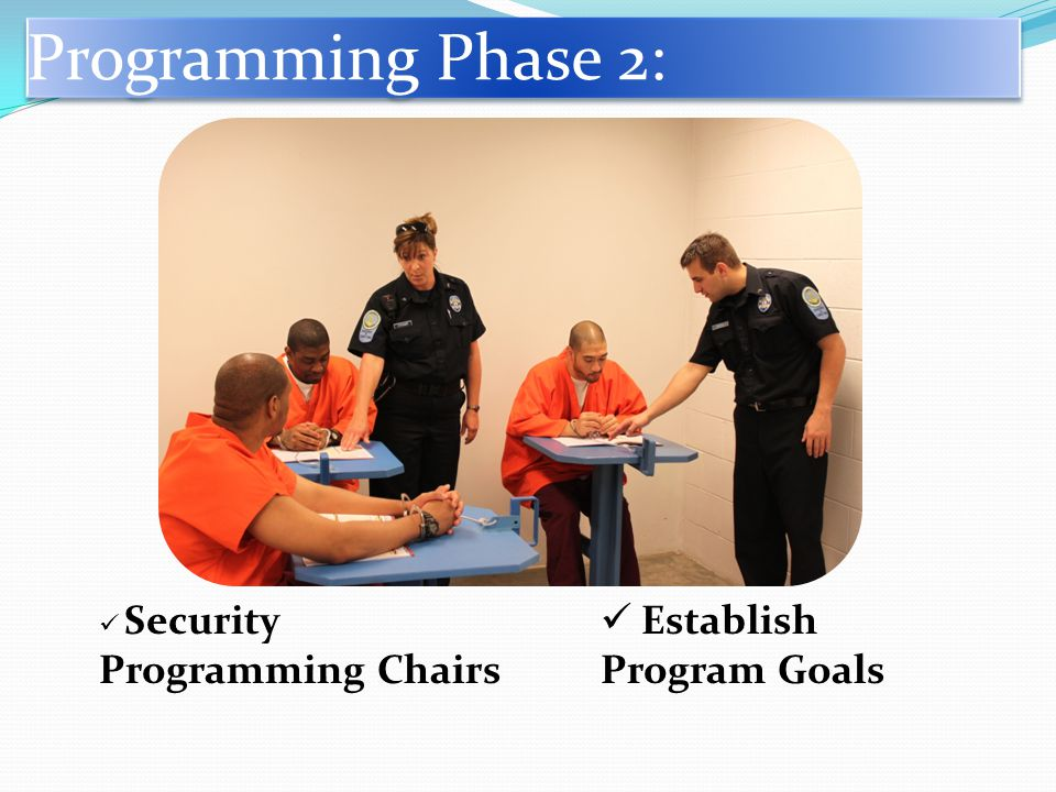 Programming Phase 2: Establish Program Goals Security Programming Chairs