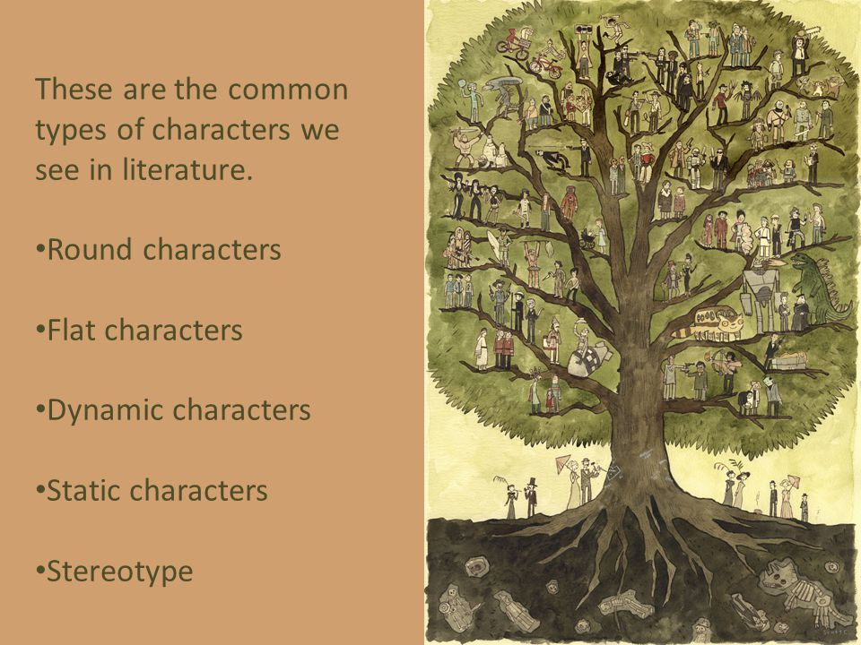 These are the common types of characters we see in literature.