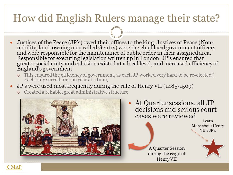 How did English Rulers manage their state.