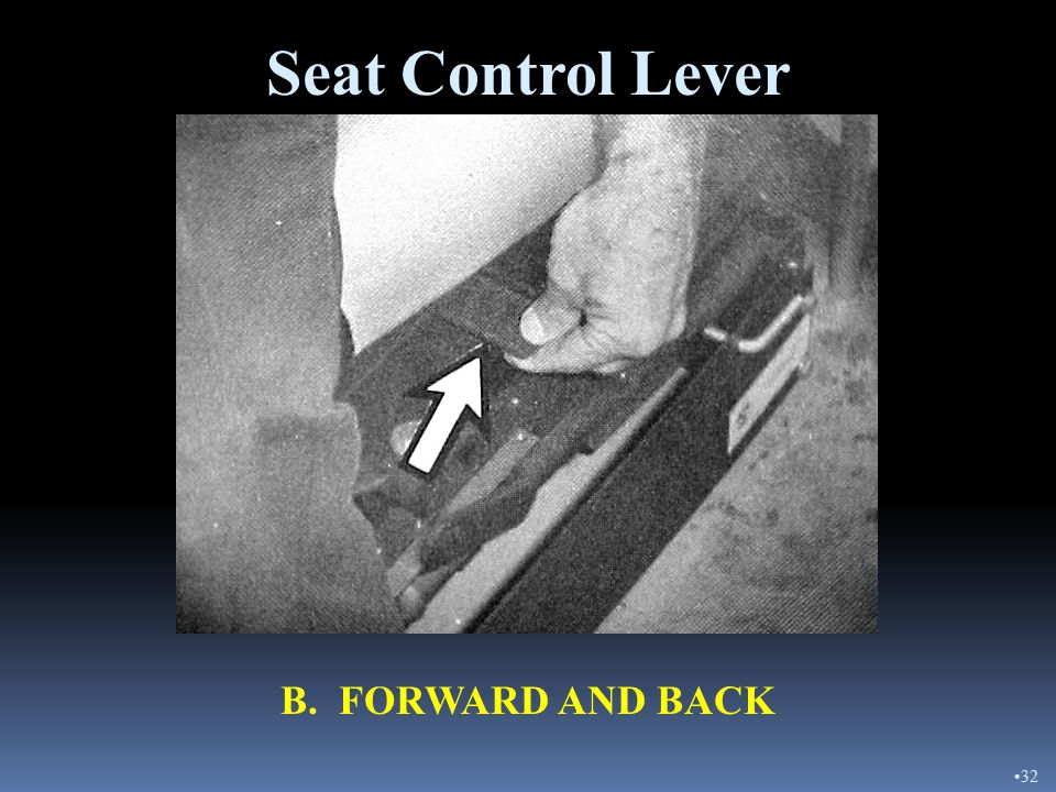 Seat Control Lever A. SUSPENSION 31