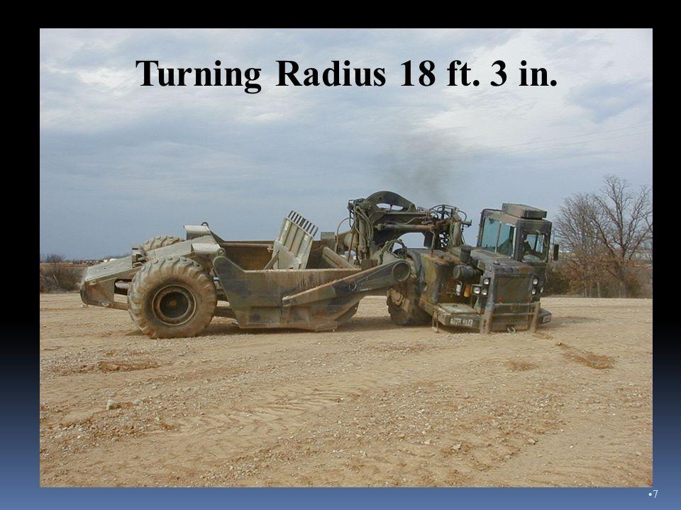 Turning Radius 18 ft. 3 in. 7