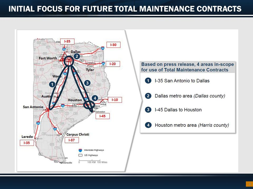 INITIAL FOCUS FOR FUTURE TOTAL MAINTENANCE CONTRACTS 4