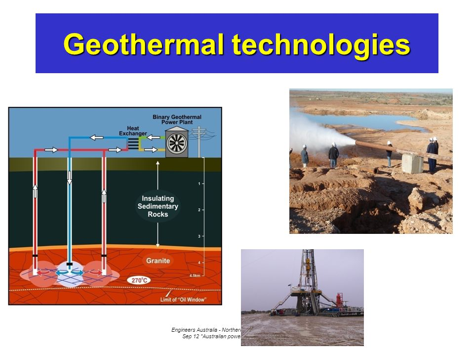 Engineers Australia - Northern Rivers Group - Ballina - 8 Sep 12 Australian power - where to by 2050 Geothermal technologies