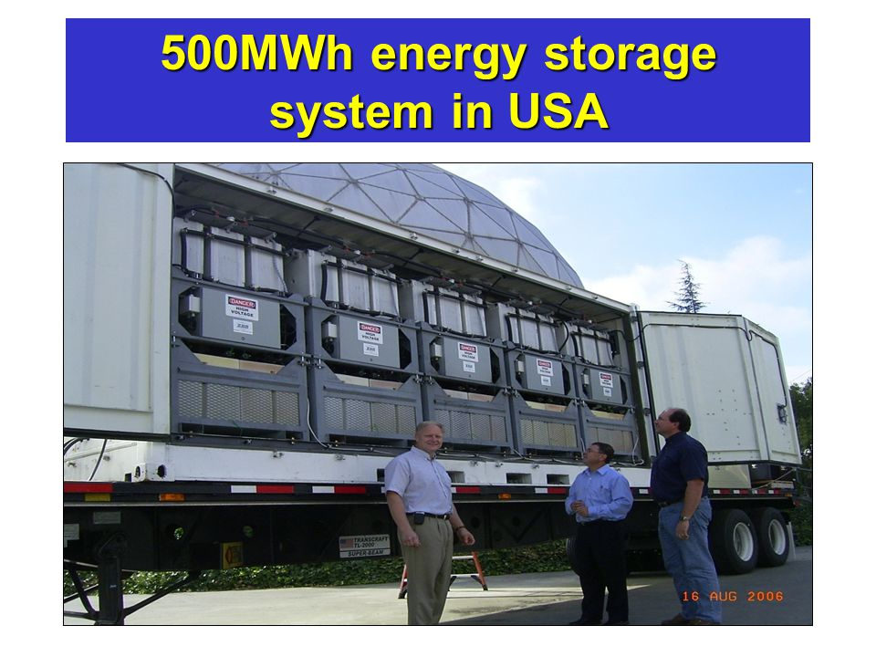 Engineers Australia - Northern Rivers Group - Ballina - 8 Sep 12 Australian power - where to by 2050 500MWh energy storage system in USA