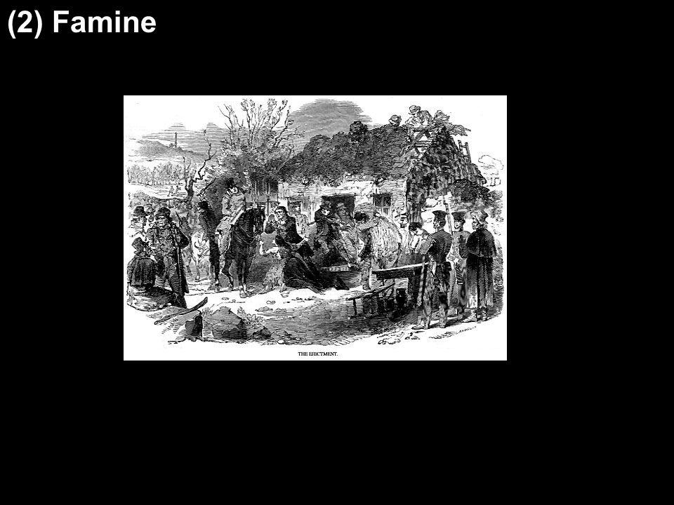 (2) Famine