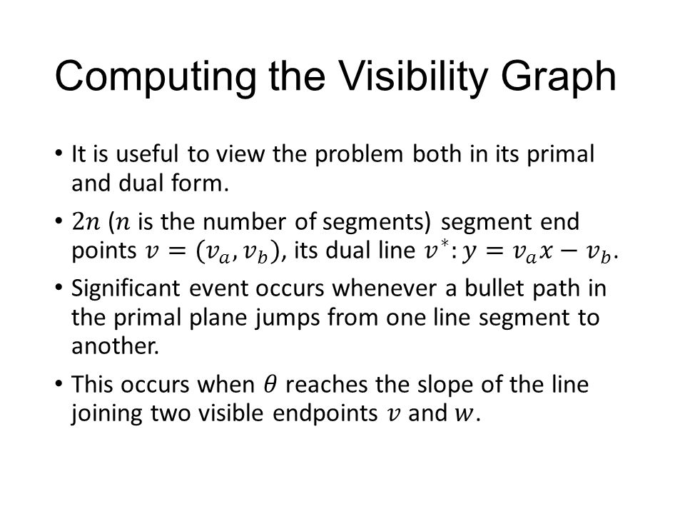 Computing the Visibility Graph