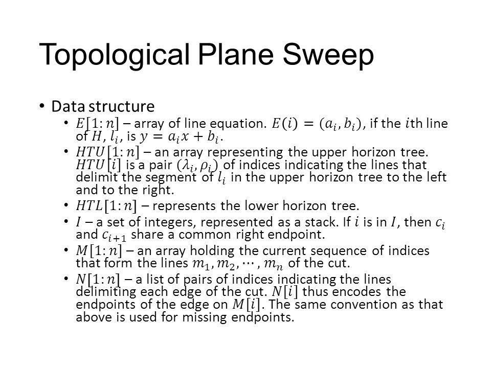 Topological Plane Sweep
