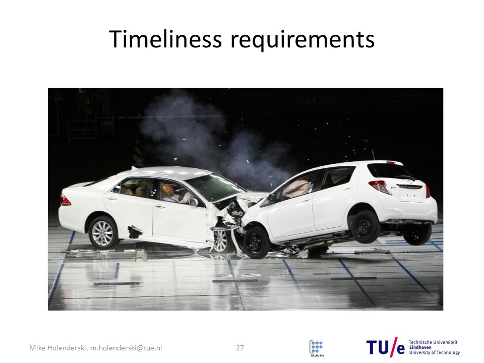 Mike Holenderski, m.holenderski@tue.nl Timeliness requirements 27