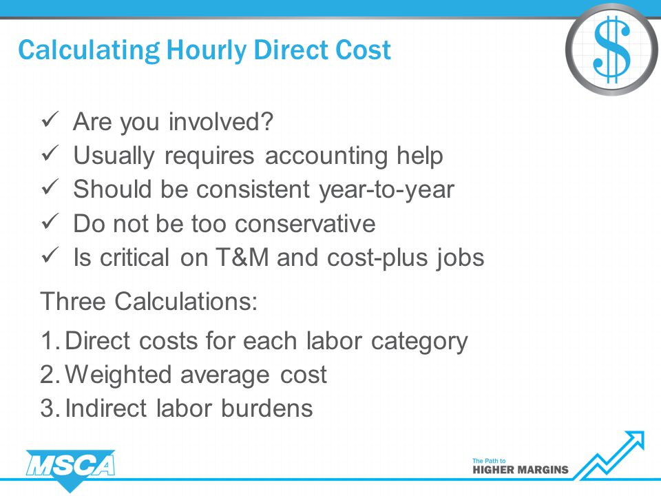 Calculating Hourly Direct Cost Are you involved.